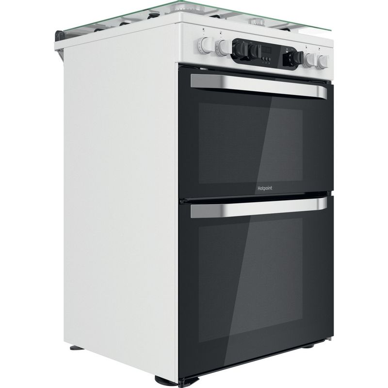 Hotpoint-Double-Cooker-HDM67G9C2CW-UK-White-A-Perspective