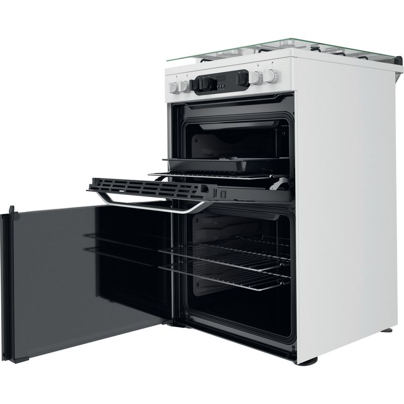 Hotpoint-Double-Cooker-HDM67G9C2CW-UK-White-A-Perspective-open