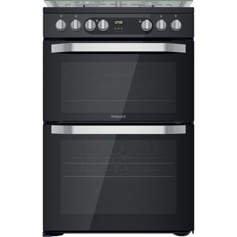 Hotpoint-Double-Cooker-HDM67G9C2CB-UK-Black-A-Frontal