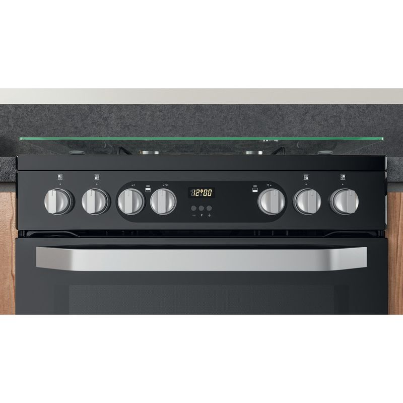 Hotpoint-Double-Cooker-HDM67G9C2CB-UK-Black-A-Lifestyle-control-panel
