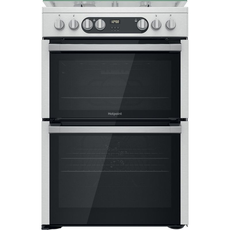Hotpoint-Double-Cooker-HDM67G9C2CX-U-Inox-A-Frontal