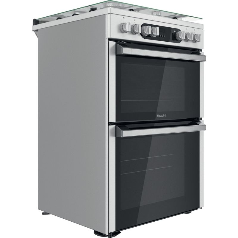 Hotpoint-Double-Cooker-HDM67G9C2CX-U-Inox-A-Perspective