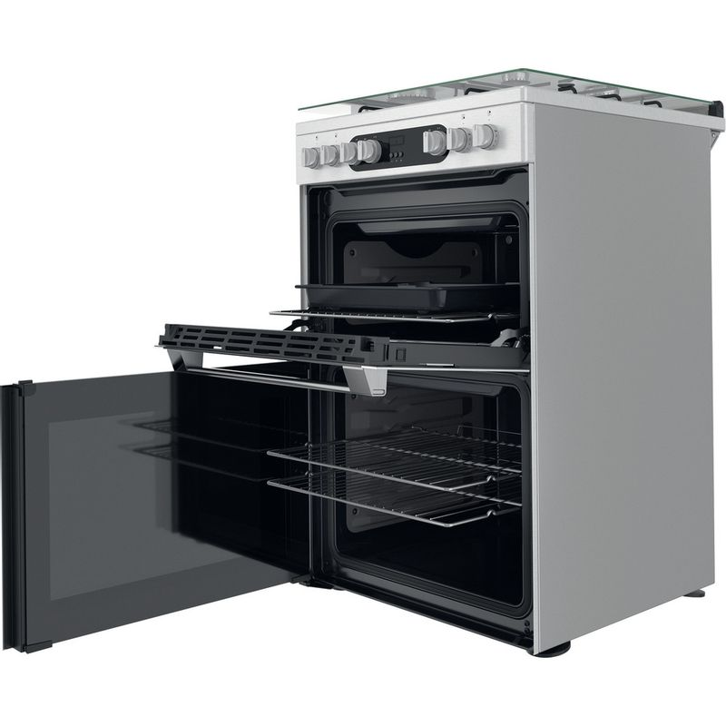 Hotpoint-Double-Cooker-HDM67G9C2CX-U-Inox-A-Perspective-open