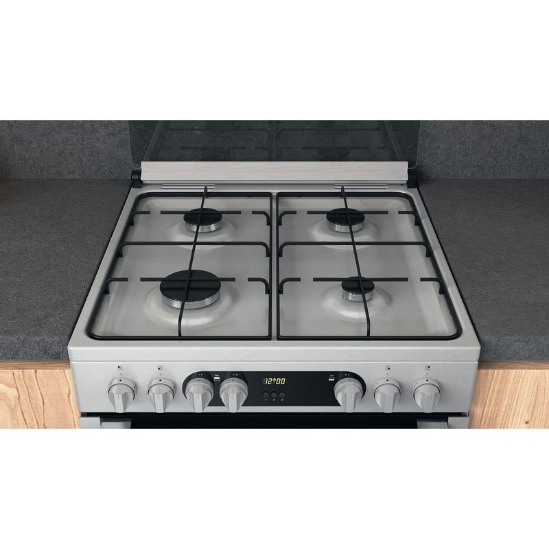Hotpoint-Double-Cooker-HDM67G9C2CX-U-Inox-A-Lifestyle-frontal-top-down