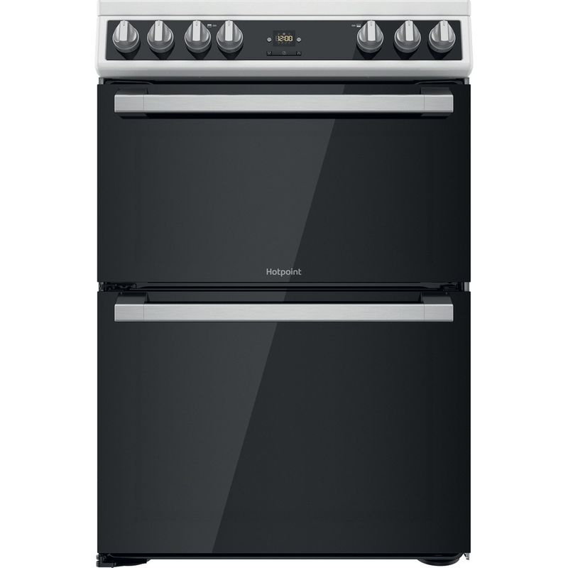 Hotpoint-Double-Cooker-HDT67V9H2CW-UK-White-A-Frontal