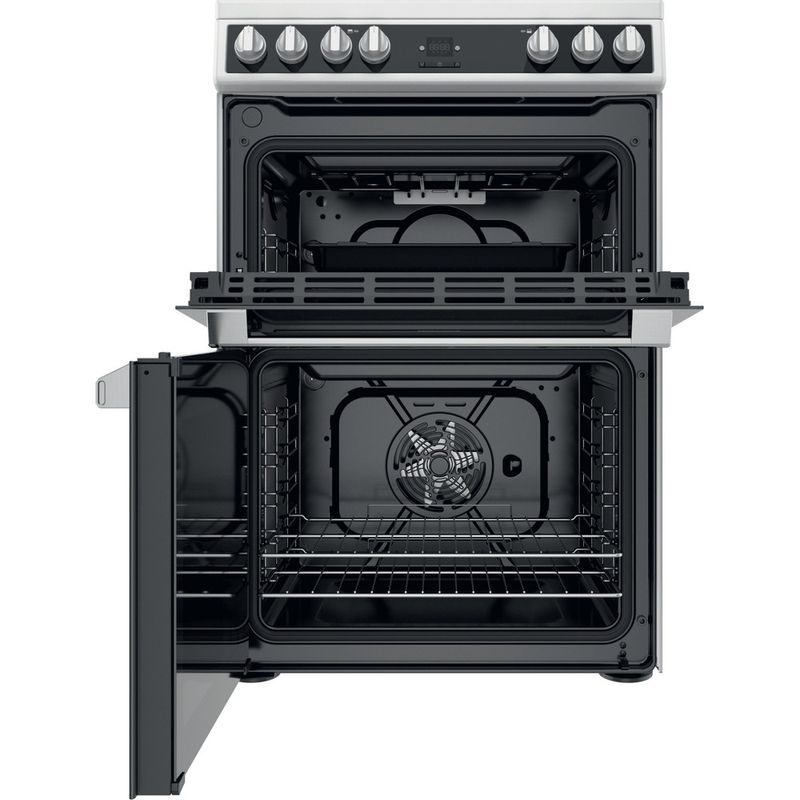 Hotpoint-Double-Cooker-HDT67V9H2CW-UK-White-A-Frontal-open