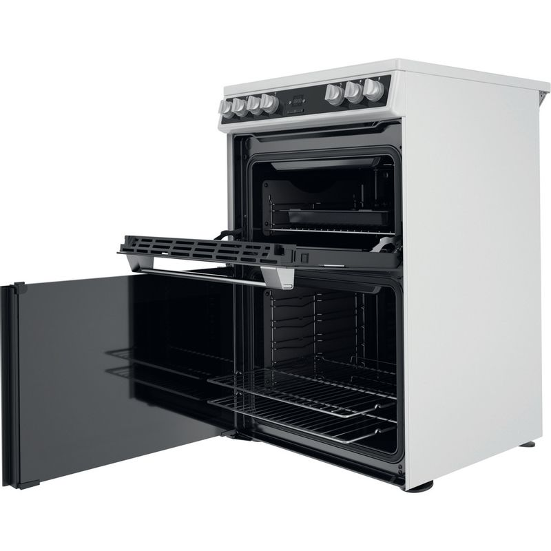 Hotpoint-Double-Cooker-HDT67V9H2CW-UK-White-A-Perspective-open