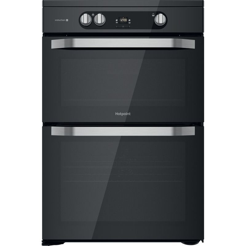 Hotpoint-Double-Cooker-HDM67I9H2CB-U-Black-A-Frontal
