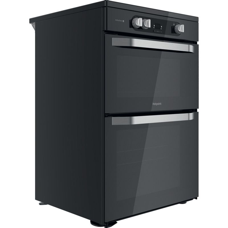 Hotpoint-Double-Cooker-HDM67I9H2CB-U-Black-A-Perspective