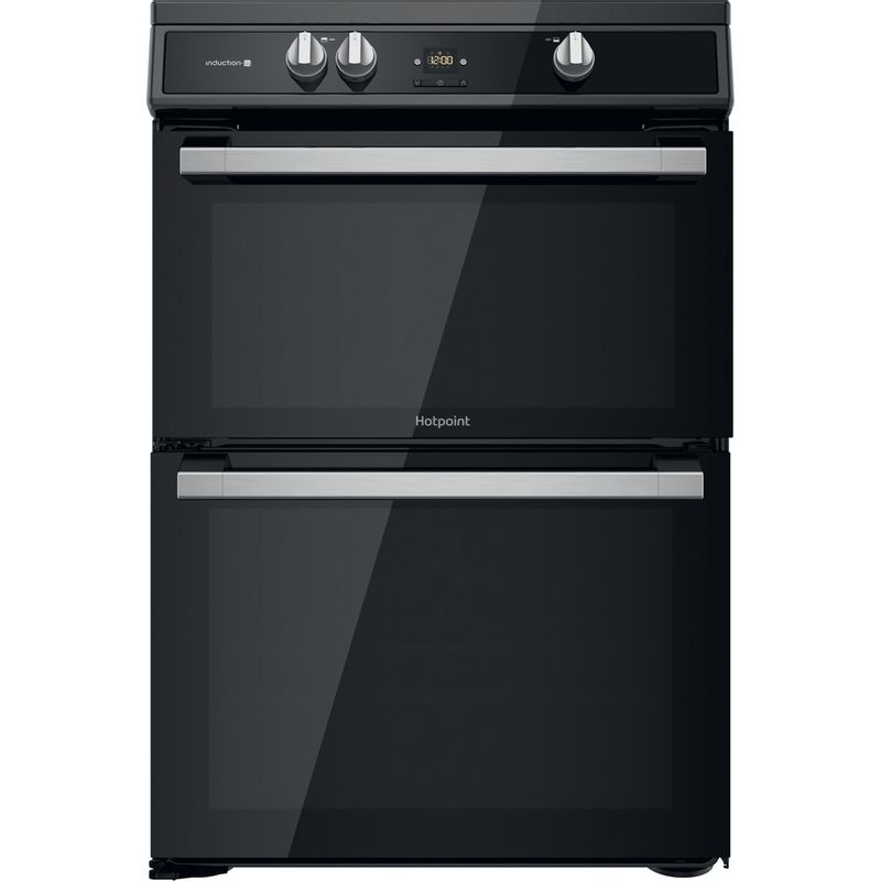 Hotpoint-Double-Cooker-HDT67I9HM2C-UK-Black-A-Frontal