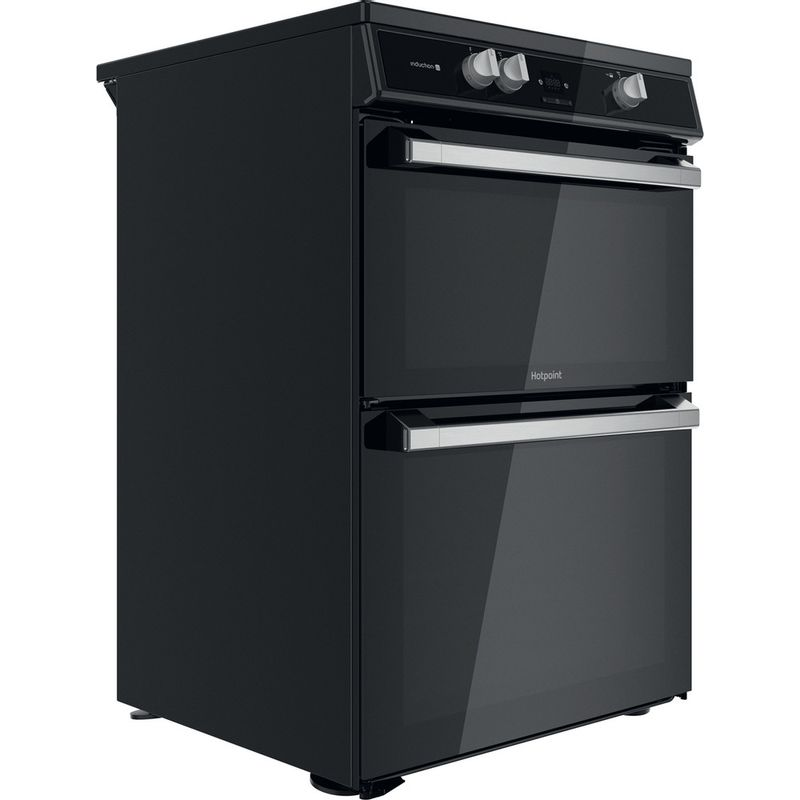 Hotpoint-Double-Cooker-HDT67I9HM2C-UK-Black-A-Perspective