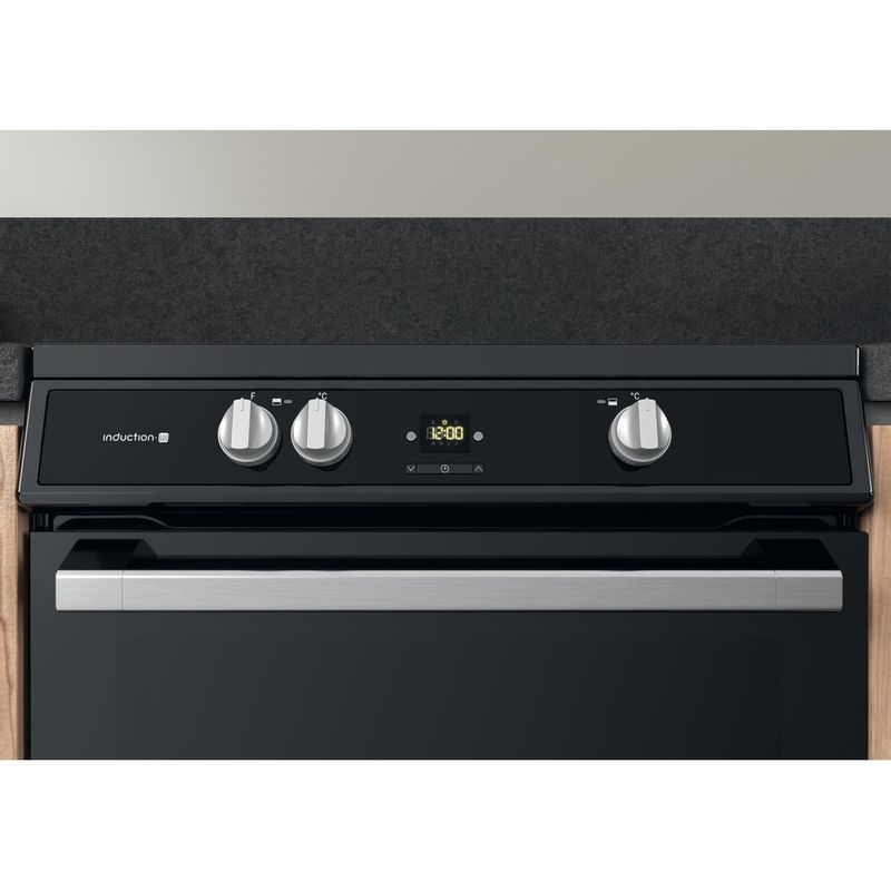 Hotpoint-Double-Cooker-HDT67I9HM2C-UK-Black-A-Control-panel