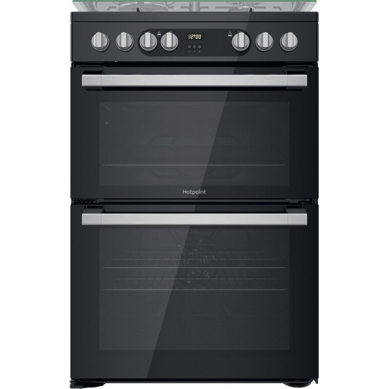 Hotpoint-Double-Cooker-HDM67G9C2CSB-UK-Black-A-Frontal