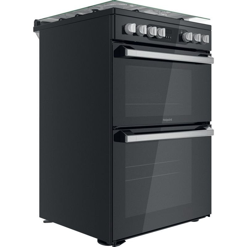 Hotpoint-Double-Cooker-HDM67G9C2CSB-UK-Black-A-Perspective