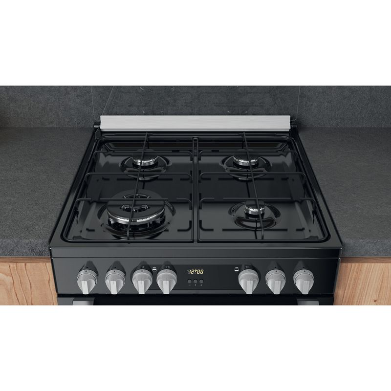 Hotpoint-Double-Cooker-HDM67G9C2CSB-UK-Black-A-Lifestyle-frontal-top-down