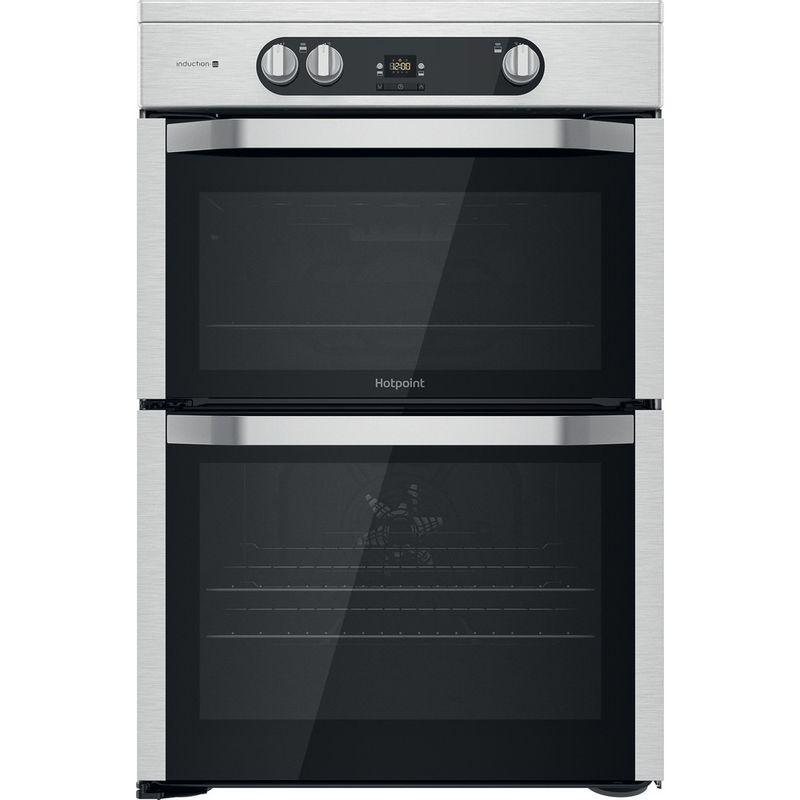 Hotpoint-Double-Cooker-HDM67I9H2CX-UK-Inox-A-Frontal