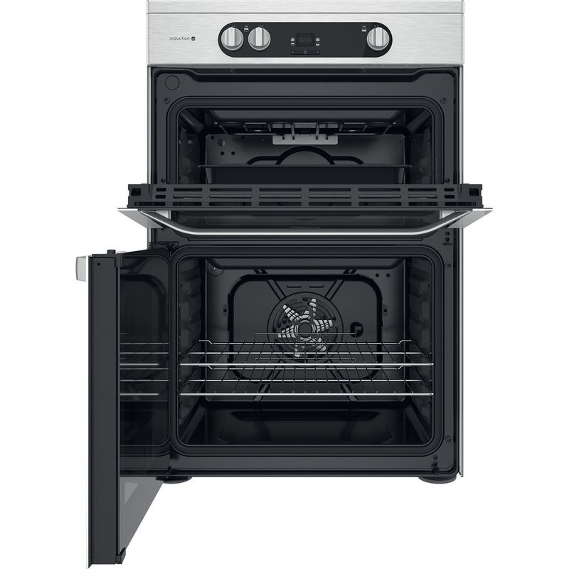 Hotpoint-Double-Cooker-HDM67I9H2CX-UK-Inox-A-Frontal-open