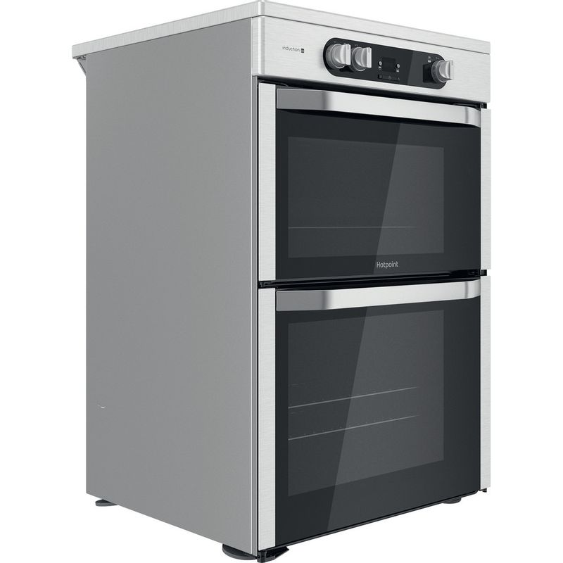 Hotpoint-Double-Cooker-HDM67I9H2CX-UK-Inox-A-Perspective