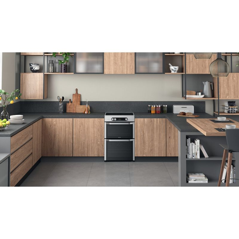Hotpoint-Double-Cooker-HDM67I9H2CX-UK-Inox-A-Lifestyle-frontal