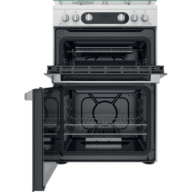 Hotpoint-Double-Cooker-HD67G02CCW-UK-White-A--Frontal-open