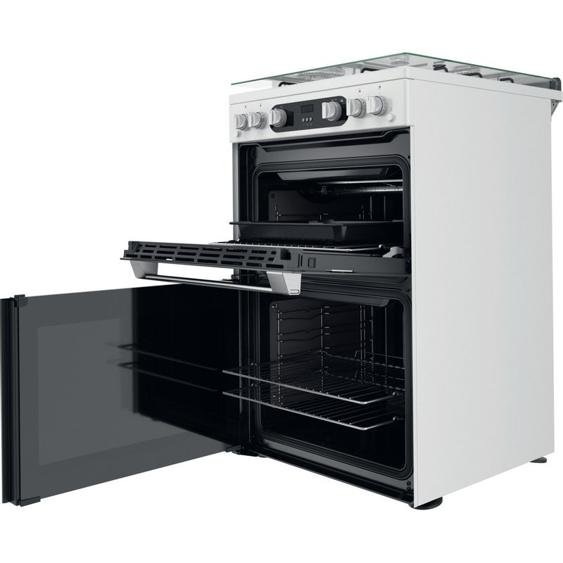 Hotpoint-Double-Cooker-HD67G02CCW-UK-White-A--Perspective-open