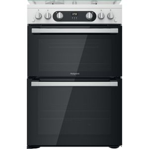 Hotpoint HD67G02CCW/UK Double Cooker - White