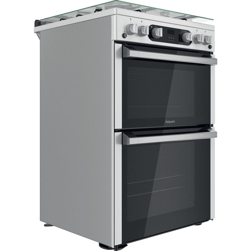 Hotpoint-Double-Cooker-HDM67G0C2CX-U-Inox-A--Perspective