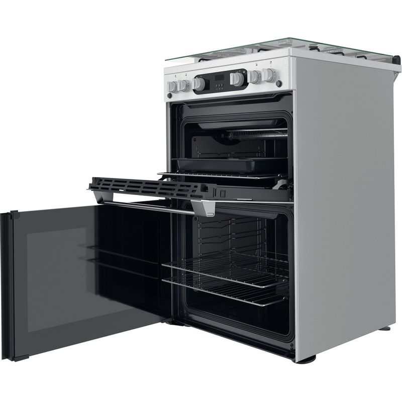 Hotpoint-Double-Cooker-HDM67G0C2CX-U-Inox-A--Perspective-open