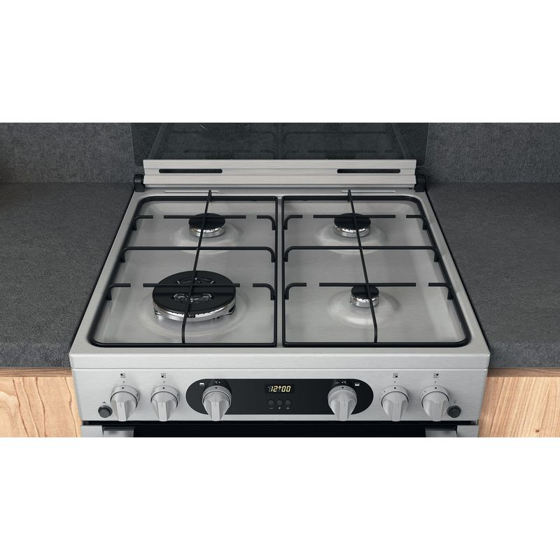 Hotpoint-Double-Cooker-HDM67G0C2CX-U-Inox-A--Lifestyle-frontal-top-down