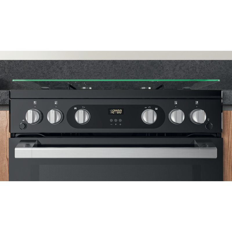 Hotpoint-Double-Cooker-HDM67G0C2CB-UK-Black-A--Lifestyle-control-panel