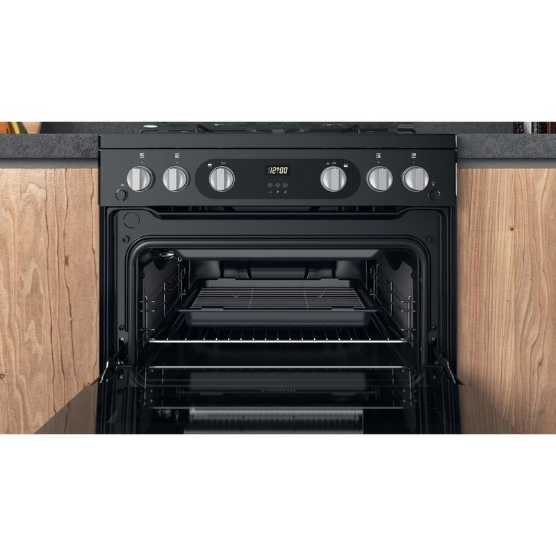 Hotpoint-Double-Cooker-HDM67G0C2CB-UK-Black-A--Cavity
