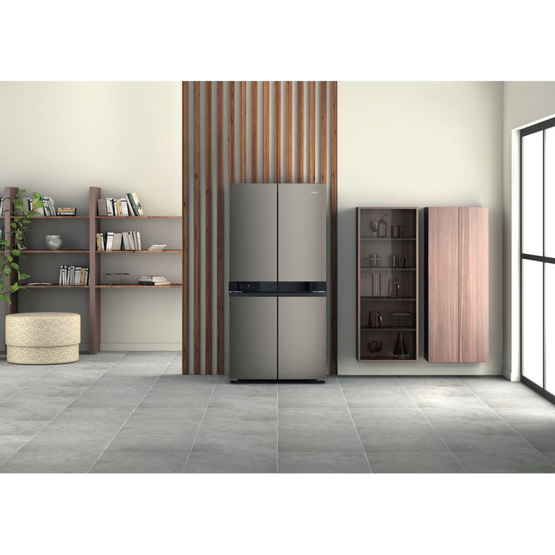 Hotpoint-Side-by-Side-Free-standing-HQ9-U1BL-UK-Black-Inox-Lifestyle-frontal
