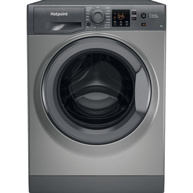 Hotpoint-Washing-machine-Free-standing-NSWR-742U-GK-UK-N-Graphite-Front-loader-E-Frontal