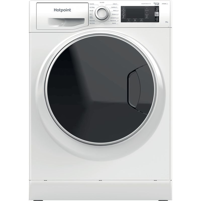 Hotpoint-Washing-machine-Free-standing-NLLCD-1044-WD-AW-UK-N-White-Front-loader-B-Frontal