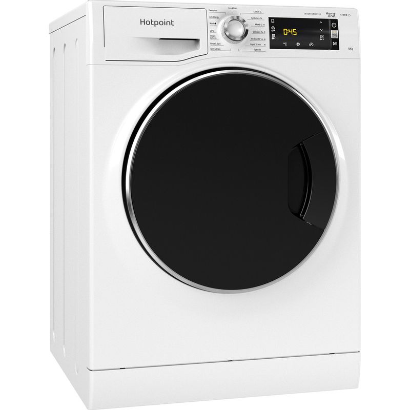 Hotpoint-Washing-machine-Free-standing-NLLCD-1044-WD-AW-UK-N-White-Front-loader-B-Perspective
