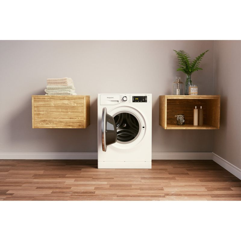 Hotpoint-Washing-machine-Free-standing-NLLCD-1044-WD-AW-UK-N-White-Front-loader-B-Lifestyle-frontal-open