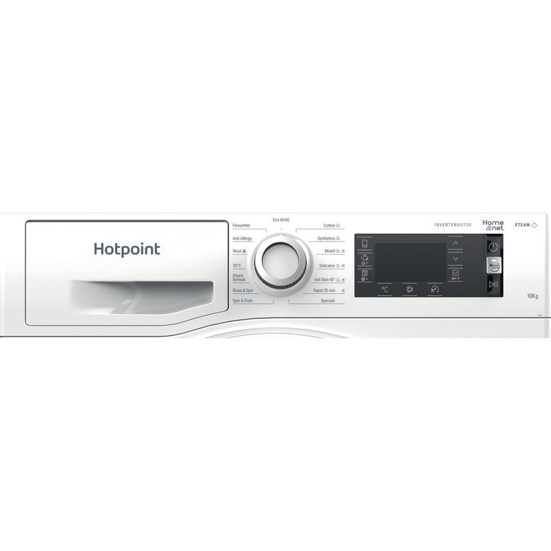Hotpoint-Washing-machine-Free-standing-NLLCD-1044-WD-AW-UK-N-White-Front-loader-B-Control-panel