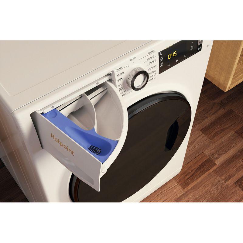 Hotpoint-Washing-machine-Free-standing-NLLCD-1044-WD-AW-UK-N-White-Front-loader-B-Drawer