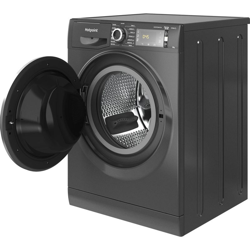 Hotpoint-Washing-machine-Free-standing-NLLCD-1064-DGD-AW-UK-N-Dark-Grey-Front-loader-C-Perspective-open