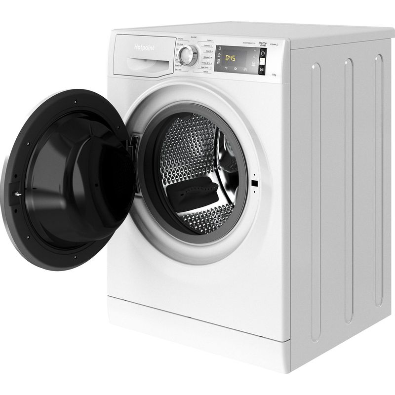 Hotpoint-Washing-machine-Free-standing-NLCD-1164-D-AW-UK-N-White-Front-loader-C-Perspective-open