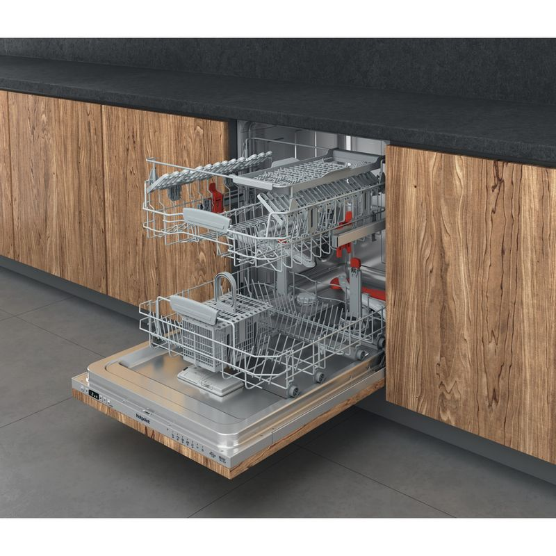 Hotpoint-Dishwasher-Built-in-HDIC-3B-26-C-W-UK-Full-integrated-E-Perspective-open
