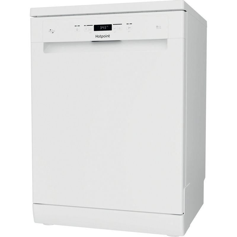 Hotpoint-Dishwasher-Free-standing-HFC-3C32-FW-UK-Free-standing-D-Perspective