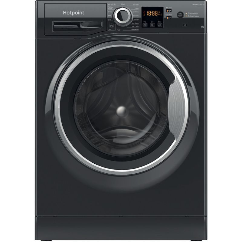 Hotpoint-Washing-machine-Free-standing-NSWR-843C-BS-UK-N-Black-Front-loader-D-Frontal