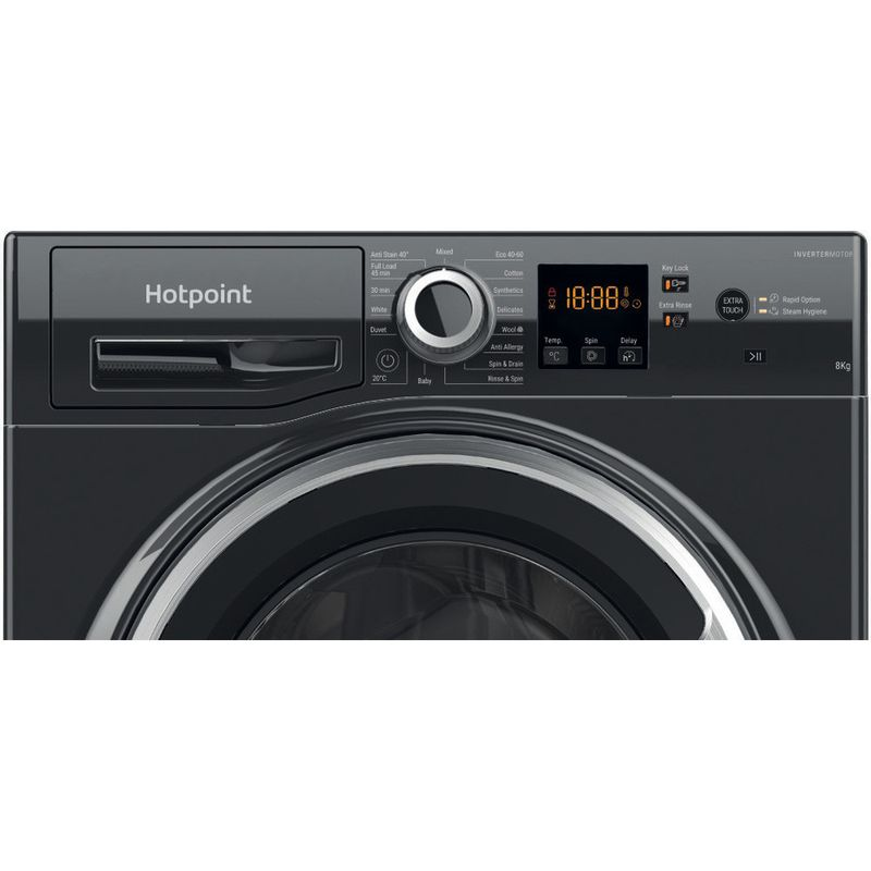 Hotpoint-Washing-machine-Free-standing-NSWR-843C-BS-UK-N-Black-Front-loader-D-Control-panel