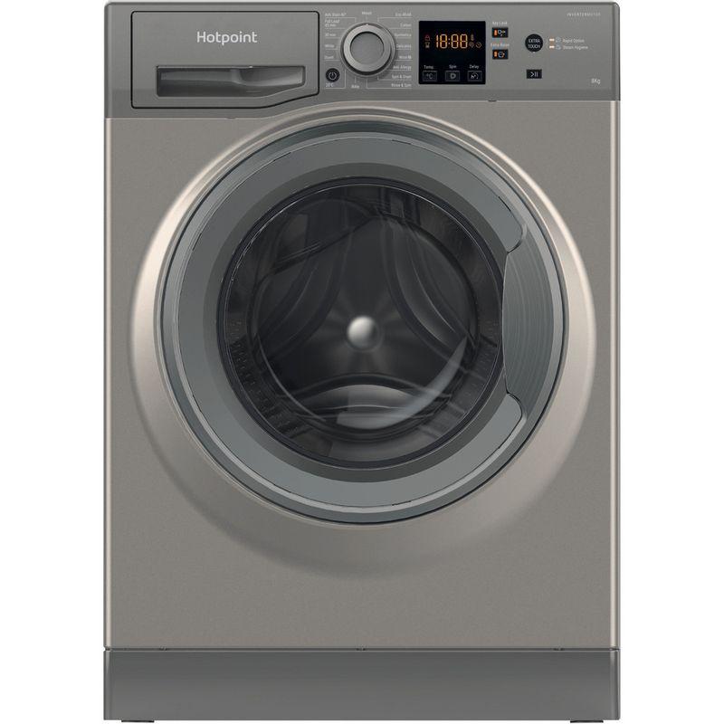Hotpoint-Washing-machine-Free-standing-NSWR-843C-GK-UK-N-Graphite-Front-loader-D-Frontal