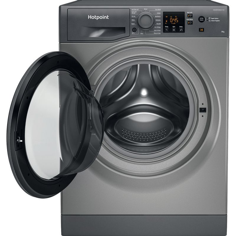 Hotpoint-Washing-machine-Free-standing-NSWR-843C-GK-UK-N-Graphite-Front-loader-D-Frontal-open