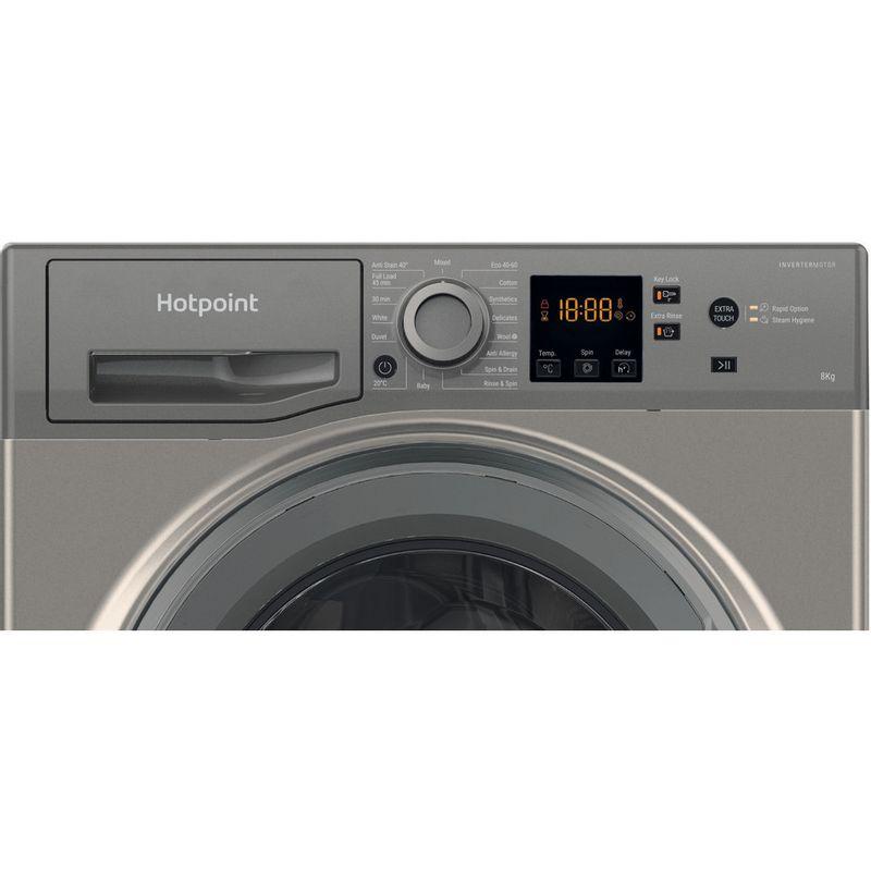 Hotpoint-Washing-machine-Free-standing-NSWR-843C-GK-UK-N-Graphite-Front-loader-D-Control-panel