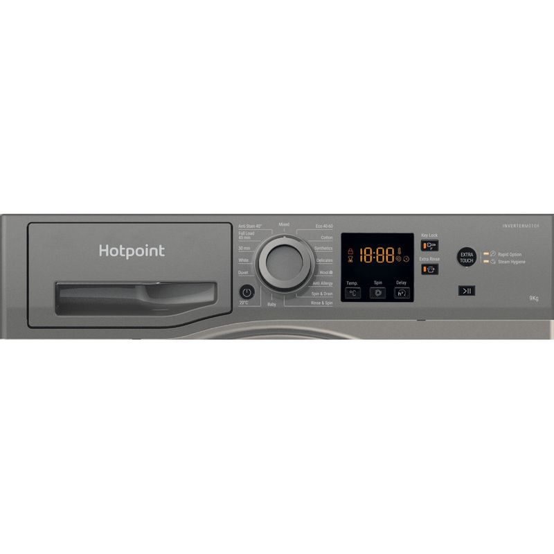 Hotpoint-Washing-machine-Free-standing-NSWR-943C-GK-UK-N-Graphite-Front-loader-D-Control-panel