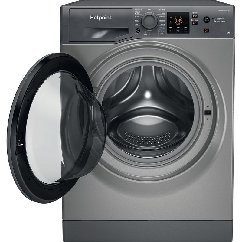Hotpoint-Washing-machine-Free-standing-NSWR-963C-GK-UK-N-Graphite-Front-loader-D-Frontal-open