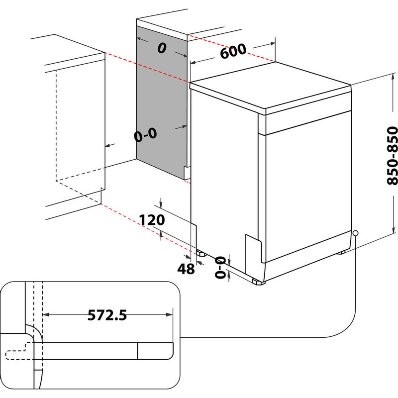 Hotpoint-Dishwasher-Free-standing-HFP-5O41-WLG--X-UK-Free-standing-C-Technical-drawing